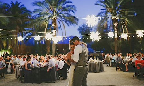 Perform your first dance as a married couple surrounded by lush greenery.