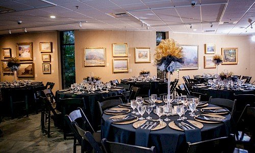 An indoor venue can be configured to your number of invited guests.