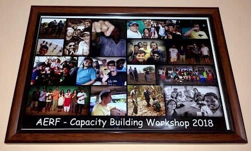 Framed collage of the Capacity Building Workshop.