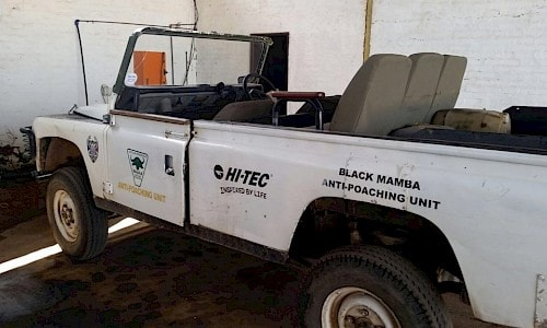 Car of the Black Mamba Anti-Poaching Unit.
