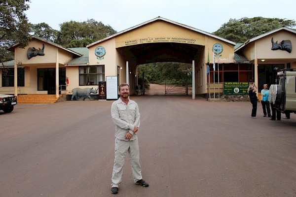 Mike Chedester at the Ngorongoro Conservation Area.