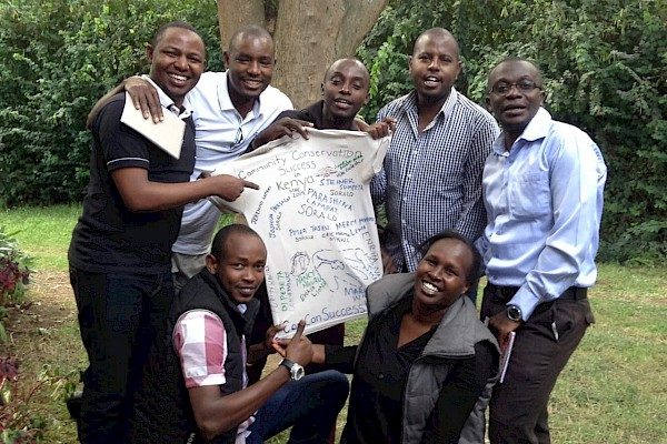 Lewa Conservancy and other celebrating workshop completion