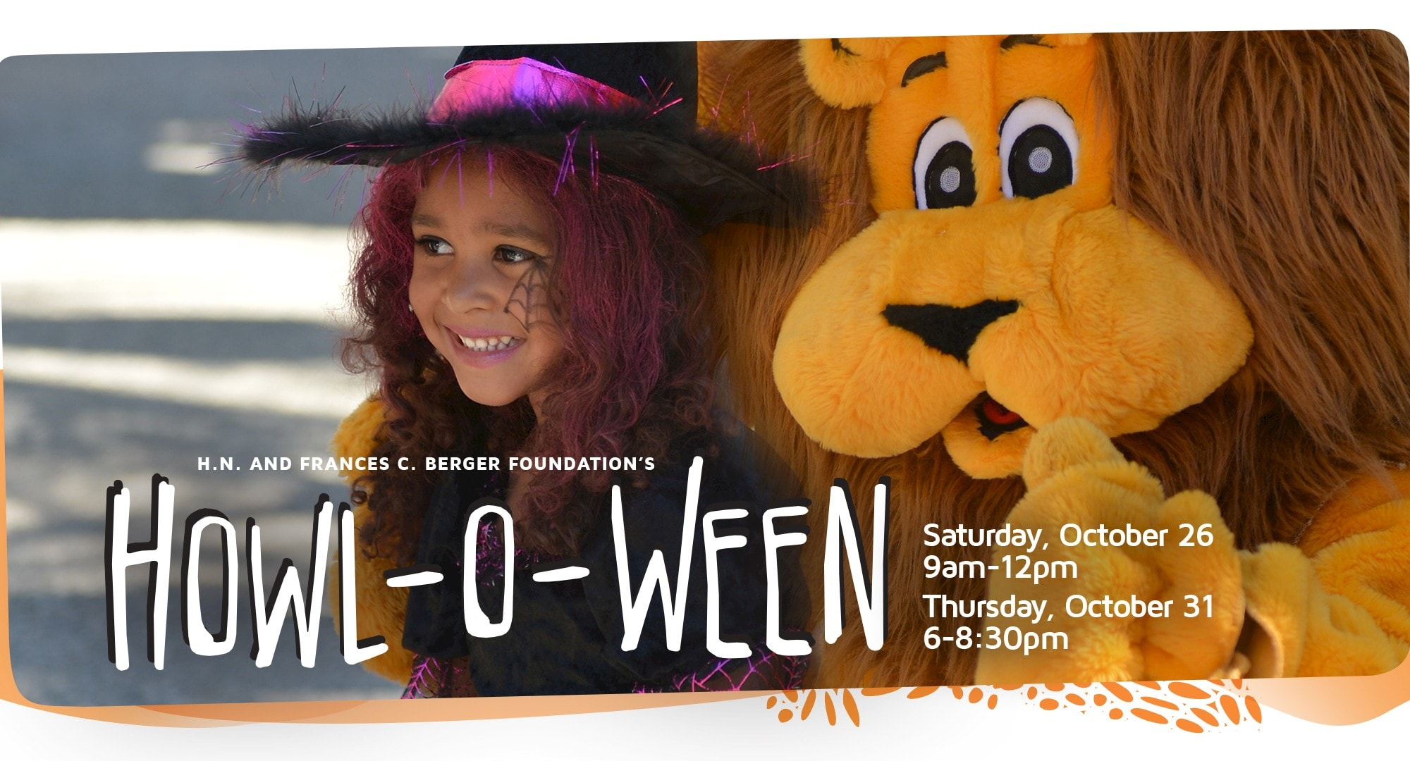 Come in your favorite costumes and enjoy over 20 trick-or-treat stations, arts and crafts, animal encounters and entertainment.