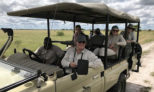 on safari in botswana